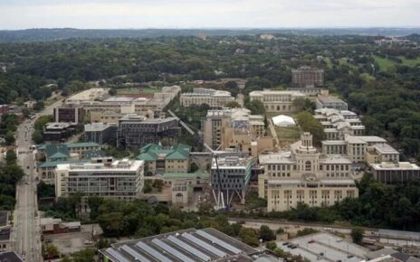 Aerial view of Carnegie Mellon's main campus