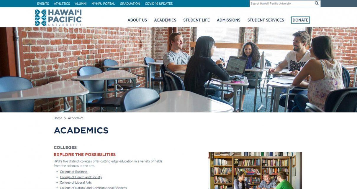 Academics - Hawaii Pacific University