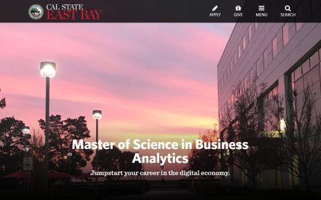Business Analytics program at Cal State East Bay