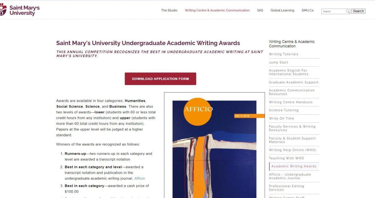 SMU Academic Writing Awards